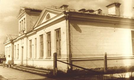 Budynek szpitala po II wojnie światowej